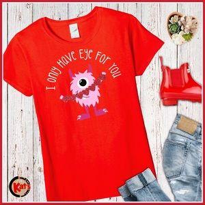 Valentine's Day Monster Love T-Shirt ❤️